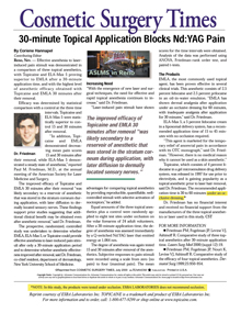 30 minute topical application blocks Nd-Yag Pain