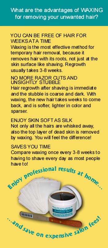Sensational You® wax for hair removal benefits