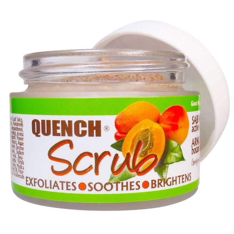 QUENCH SCRUB- APRICOT 1.25 oz (35 g) exfoliating, soothing and brightening scrub